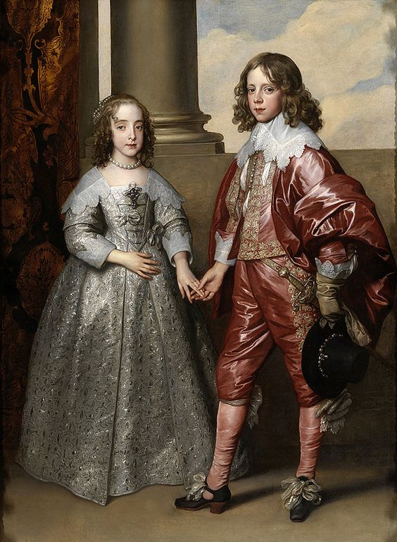 The later William II, Prince of Orange and his bride Princess Mary Stuart, daughter of Charles I of England | by lluisribesmateu1969