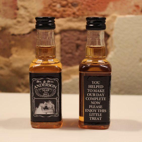 $49.95 100 Custom Jack Daniels Mini Bottle Labels Wedding Favors