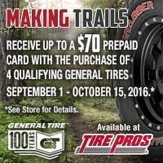 Make it to the Husker game in style with new General tires! Receive up to a $70 prepaid Visa card. Sale runs thru Oct. 15. GO BIG RED! #bigredtire #tires #generaltires #LKN #savemoney https://www.instagram.com/p/BJ1H5SxAnTl/ via www.bigredtire.com