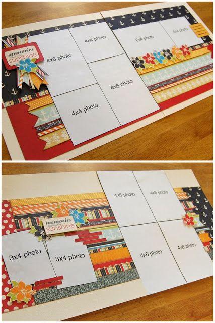 Scrapbook Generation - Debbie Sanders layout, top; Allison Davis layout, bottom