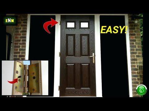 Exterior Door Hinge Security Hack Youtube In 2020 Exterior Doors Door Hinges Swinging Doors
