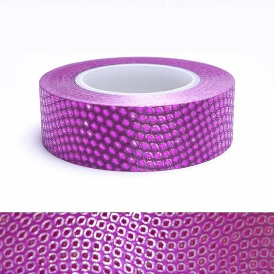 MASKING TAPE GLITTER POINTS FUSHIA