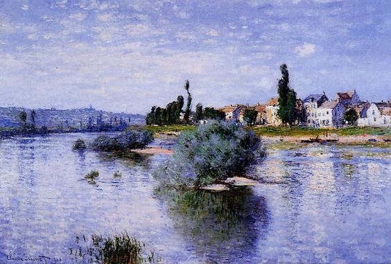 Lavacourt, Oil On Canvas by Claude Monet (1840-1926, France)
