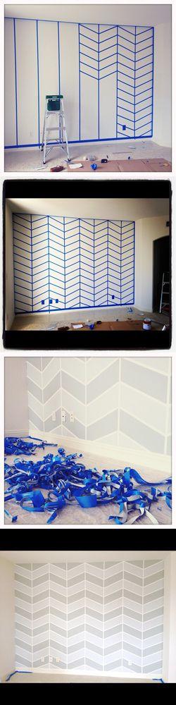 Pintura geométrica para paredes - linda!