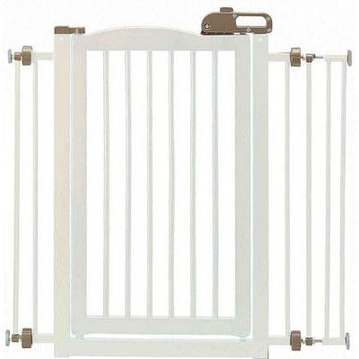 One-Touch Pet Gate in White