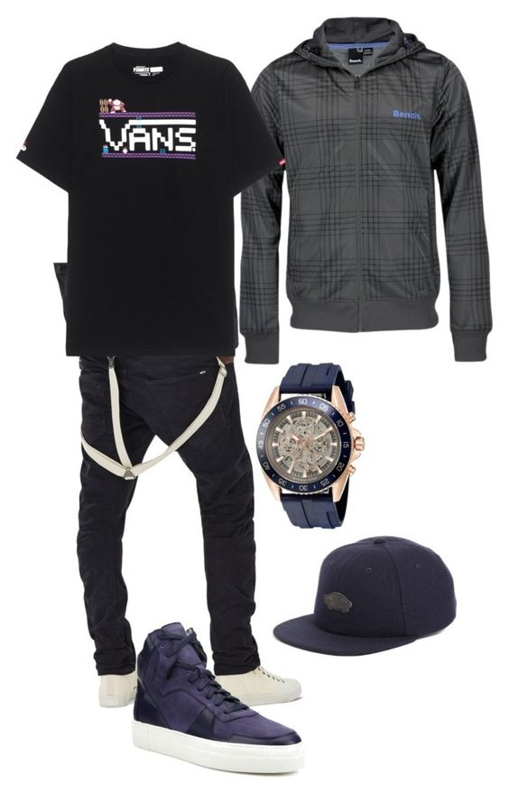 """Boy outfit"" by fashionbarcaa on Polyvore featuring G-Star Raw, Bench, Facto, Michael Kors, Vans, men's fashion und menswear"