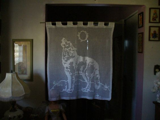 Howling Wolf Wall Hanging Table Cloth Curtains  Many by TheLooks, $80.00