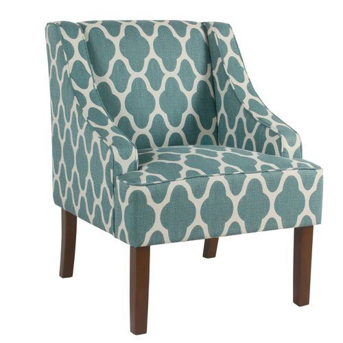 Bella Teal Geometric Accent Chair With Images Wooden Accent Chair Accent Chairs Teal Accent Chair