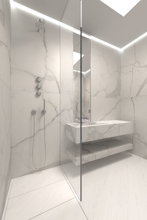 Large format marble/porcelain
