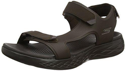 Skechers Men's 55366 Ankle Strap Sandals, Brown (Chocolat
