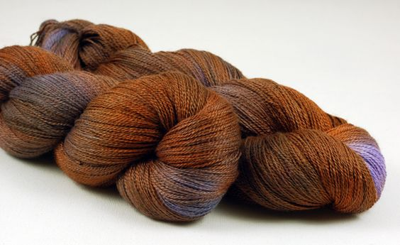 Poshyarns You Can Quote Me On That Sylvia Lace, a lace weight yarn, made from 50% merino, 50% silk. 875 yards (800m) per 100g.