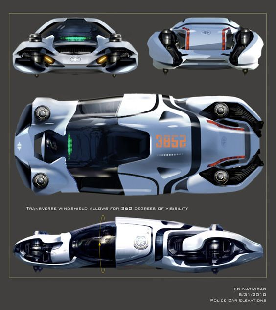 TOTAL RECALL Concept Art Featuring Futuristic Sets & Hover Cars