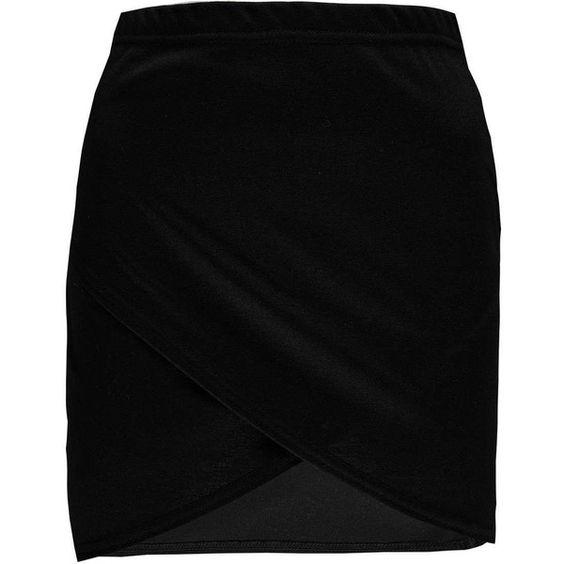 Boohoo Jade Curve Hem Wrap Pnte Mini Skirt (£6.54) ❤ liked on Polyvore featuring skirts, mini skirts, black miniskirt, short black mini skirt, wrap mini skirt, short mini skirts and black mini skirt