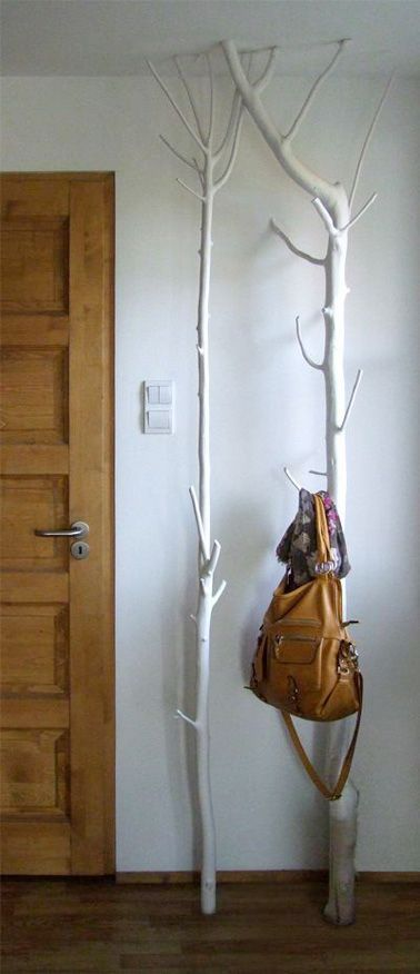 Porte manteau arbre à fabriquer pour la déco du hall d'entrée