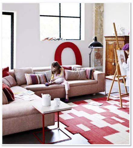 Hoekbank met chaise longue van gelukkig in lichtroze voor for Chaise longue torino