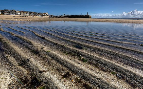 St Ives Sand Ripples by dmass, via Flickr. Ripples in the sand at St Ives Harbour at low tide