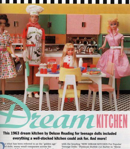 Dream Kitchen Toy: 5/93 Barbie Bazaar Magazine-Deluxe Reading Dream Kitchen