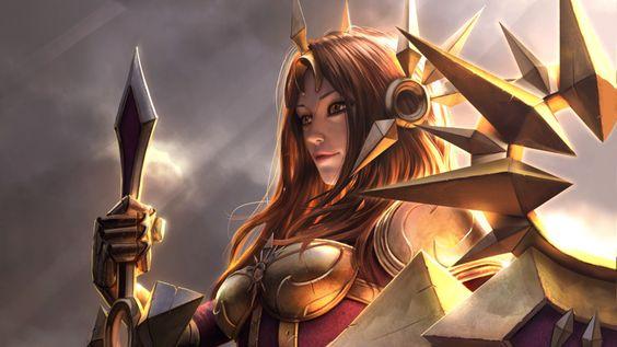 Videospiel League Of Legends  Leona Woman Armour Wallpaper