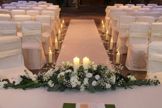 I do think it's so important that the back of the Registrars arrangement looks just a beautiful as the front after all our Bride & Groom the most important people on the day will be able to see it.