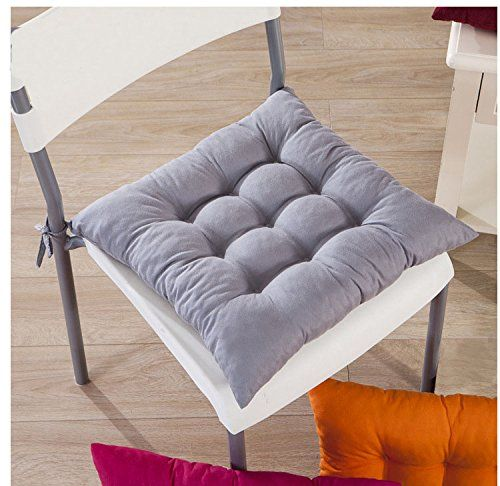 Huplue Color Chair Pads Cushions Buttocks Chair Cushion Pads Square Seat Pillows Home Office Indoor Garden Patio R Seat Cushions Chair Pads