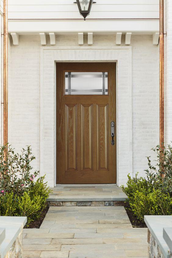 Plastpro Craftsman Style Wood Grain Fiberglass Doors | Plastpro DRG6C-RIVTL3 fiberglass door | Featuring & Plastpro Fiberglass door w/ full lite Priscilla Glass | WOODGRAIN ... pezcame.com