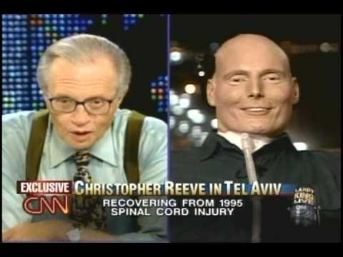 Christopher Reeve on Larry King Live - pt1