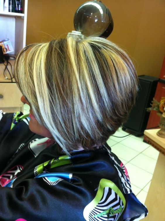Stacked Bob Short Highlights And Stacked Bobs On Pinterest