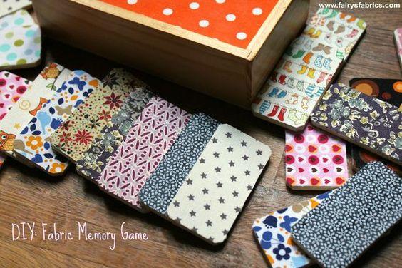 Un jeu de mémory avec des chutes de tissu ! DIY fabric memorywith scraps upcycling