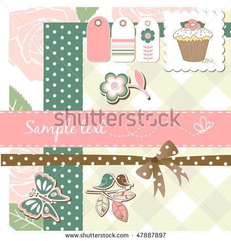 scrap-booking elements by alicedaniel, via Shutterstock