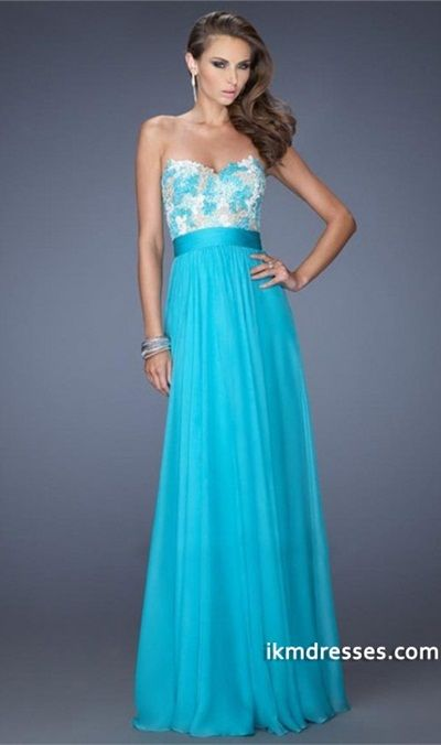 http://www.ikmdresses.com/2014-Sweetheart-Fitted-Bodice-A-Line-Full-Length-Prom-Dress-With-Pleated-Waistband-Chiffon-p83272