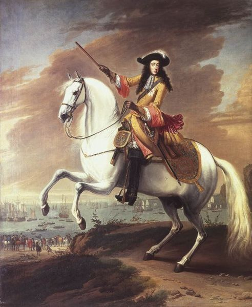 Equestrian portrait of William III by Jan Wyck, commemorating the start of the Glorious Revolution in 1688.