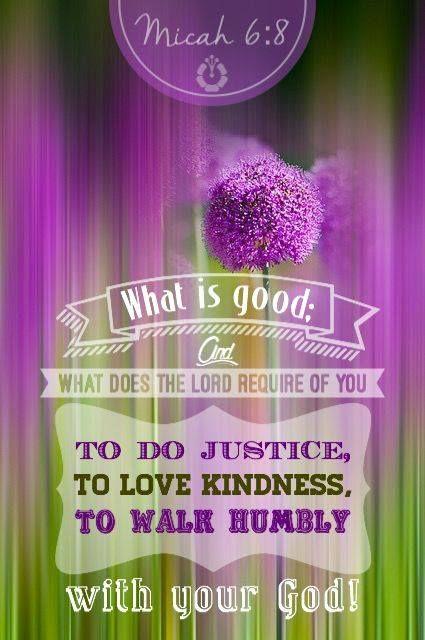 MICAH  6:8:
