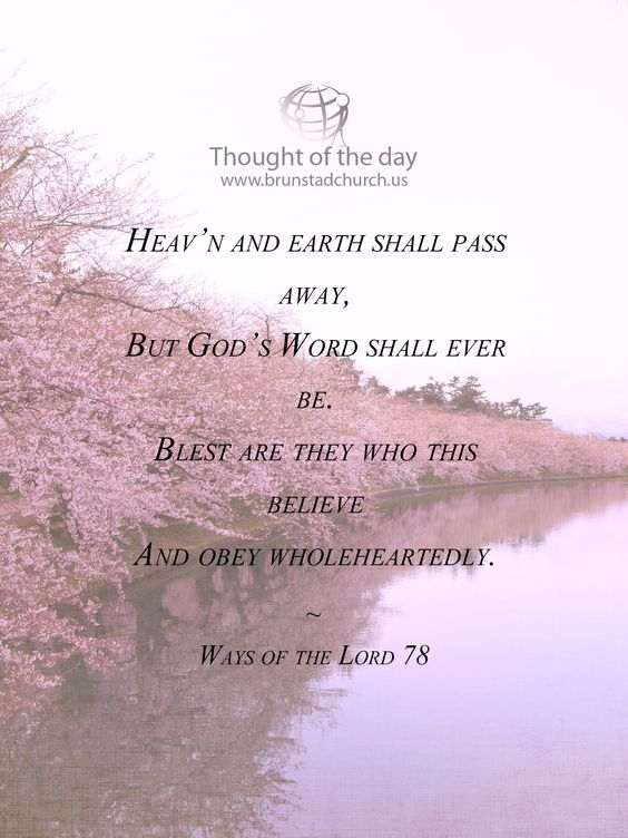 Visit www.brunstadchurch.us for more Christian encouragement.