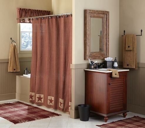 Sturbridge Patch Wine Shower Curtain By Park Designs With Images