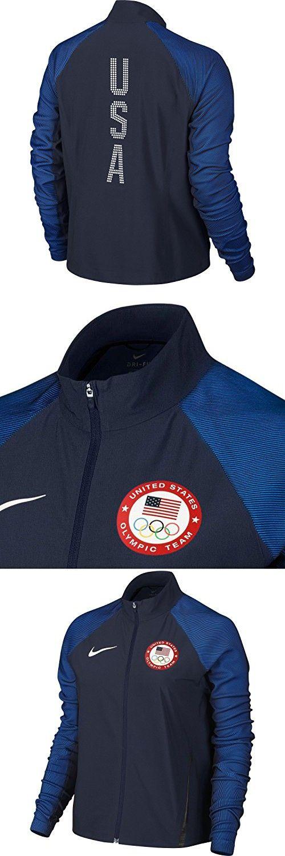 dd2fc735831a Nike Women s Team USA Flex Full Zip Running Jacket (Obsidian