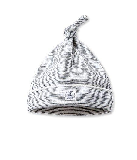 Bonnet naissance bébé en laine et coton (Petit Bateau)