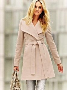 michael kors...blush color wrap sweater coat | Coats | Pinterest