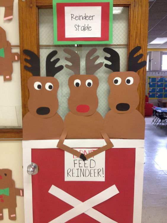 Elf Door Reindeer And Stables On Pinterest
