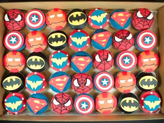 Superhero Cupcakes   Superhero cupcakes Super Cool!! haha I made a funny... no?.. ok