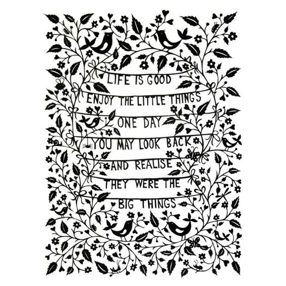 Life is Good  print by FolkArtPapercuts on Etsy, $32.00