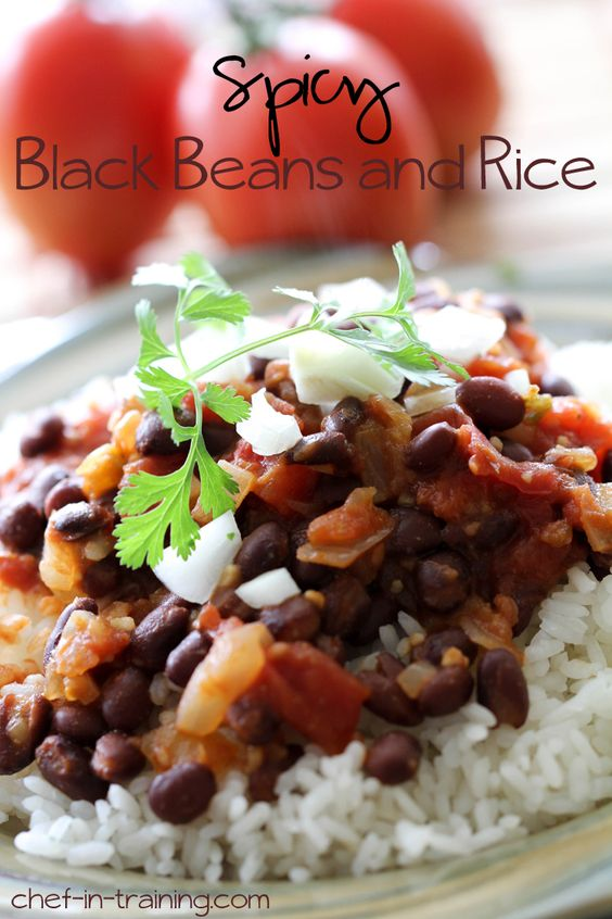 Spicy Black Beans and Rice | Recipe | Black Beans And Rice, Black ...