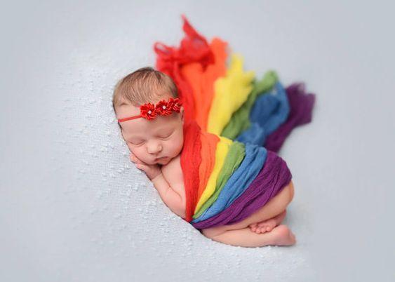 Neugeborene Wrap Rainbow Rainbow-Set von CelesteandCompany