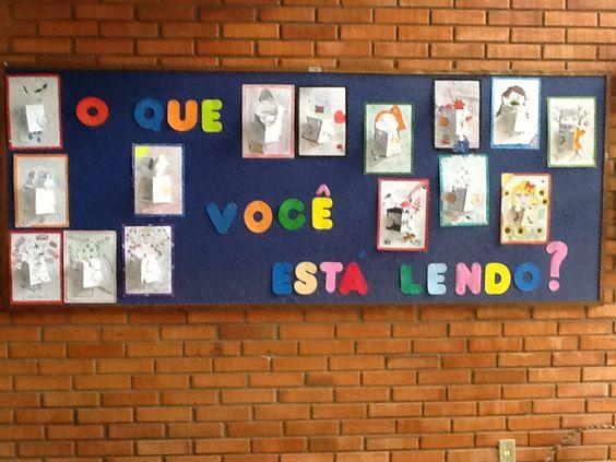 Painel. expressões e impressões artísticas dos alunos sobre leituras