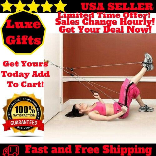 Home Exercise Equipment Door Knob Exerciser Resistance Rope Workout Bands Sports
