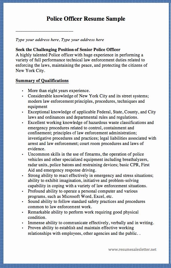 Warrant Officer Resume Examples Beautiful Warrant Officer Packet Example Resume In 2020 Police Officer Resume Resume Police Officer Duties