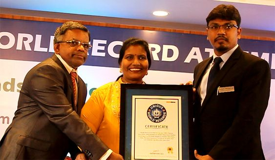 Vasugi Manivannan Achieved 167 Heads Braided World Record At Chennai