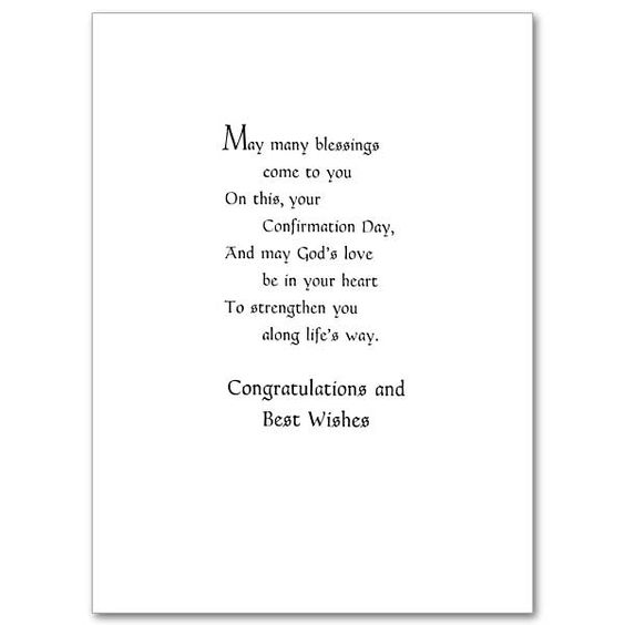 On Your Confirmation - Confirmation Card   card wording ...