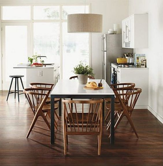 Light over table  Kitchen and Dining Room  Pinterest  Modern