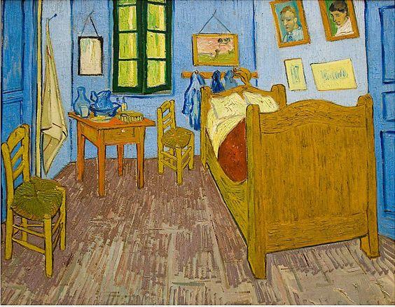 Pinturas de Van Gogh habitacion-en-arles