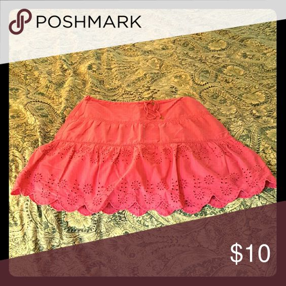 Eyelet skirt Hot pink American Eagle Outfitters Skirts A-Line or Full